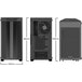 Be Quiet! Pure Base 500DX Gaming Case with Glass Window, ATX, No PSU, 3 x Pure Wings 2 Fans, ARGB Front Lighting, USB-C, Black - Image 2