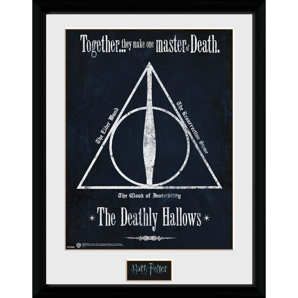 Harry Potter Deathly Hallows 30 x 40cm Framed Collector Print