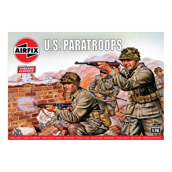 WWII US Paratroops 1:76 Air Fix Figures