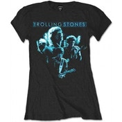 Rolling Stones Band Glow Black Ladies T Shirt: Small