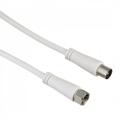 Hama SAT Connection Cable, F plug - coax plug 1.5m 90 dB