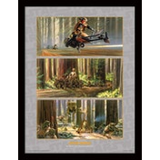 Star Wars - Action on Endor's Moon Framed 30 x 40cm Print