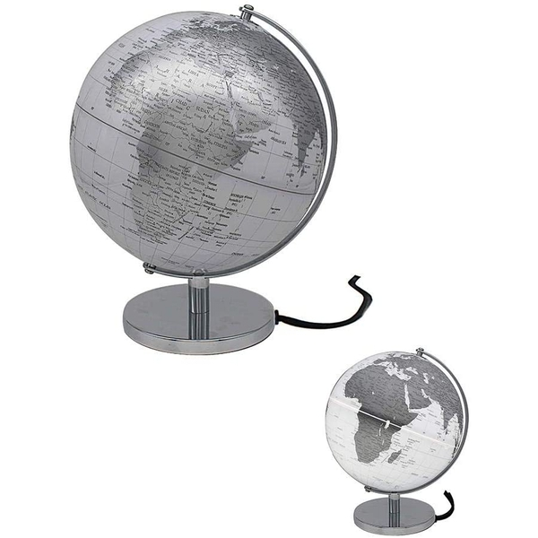 Globe Silver & White Light Up By Lesser & Pavey