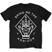 BMTH Diamond Hand Mens Black T-Shirt: X-Large