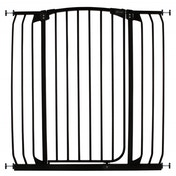 Dreambaby Auto-Close 1 Meter Tall Hallway Metal Safety Gate (Black)