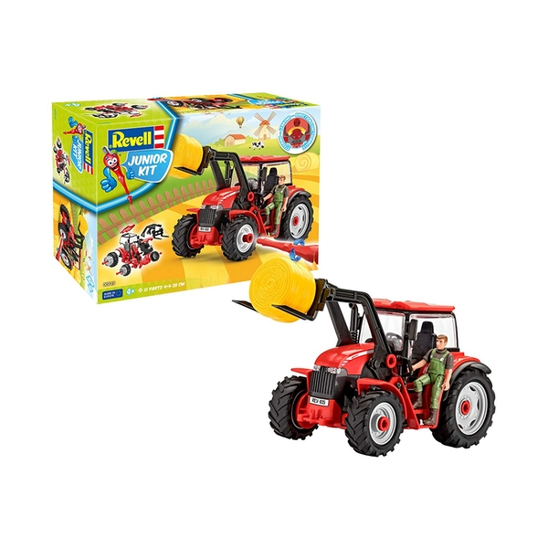 Tractor with Loader and Figure 1:20 Scale Level 1 Revell Junior Kit - Image 1