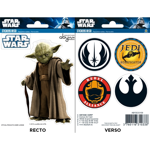 Star Wars - Yoda / Symbols Mini Stickers