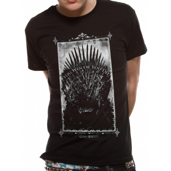 Game Of Thrones Win Or Die T-Shirt X-Large - Black