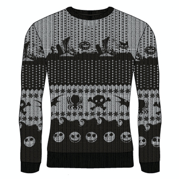 Image of Nightmare Before Christmas - Symbols Unisex Large Knitted Jumper - Multi-Colour