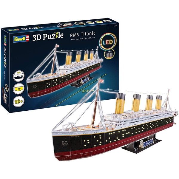 RMS Titanic LED 3D Puzzle By Revell