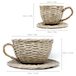 Set of 2 Willow Teacup Planters | M&W - Image 5