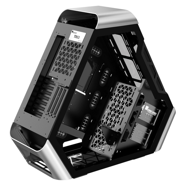 Jonsbo TR03 Silver tempered glass front panel/Window Triangular Case