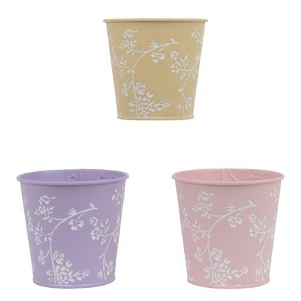 Small Floral Planter Pastel 11cm (1 Random Supplied)