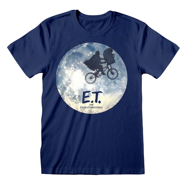 ET - Moon Silhouette Unisex Medium T-Shirt - Blue