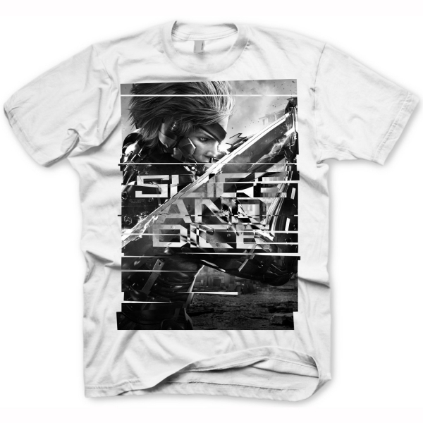 METAL GEAR SOLID Rising Slice & Dice Extra Large T-Shirt, Light Grey (GE1641XL)