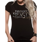 Fantastic Beasts - Logo Sk Women's X-Large Fitted T-Shirt - Black
