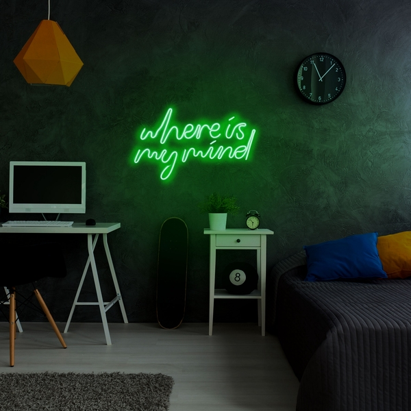 Where Is My Mind - Green Green Wall Lamp