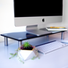 Adjustable Glass Monitor Stand Non-Slip Feet | M&W Black Large - Image 4