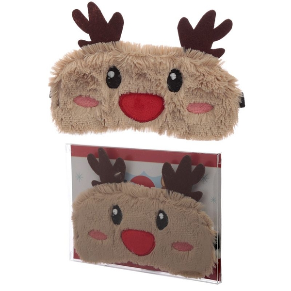 Plush Reindeer Eye Mask