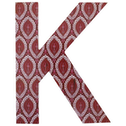 Letter K Wall Plaque