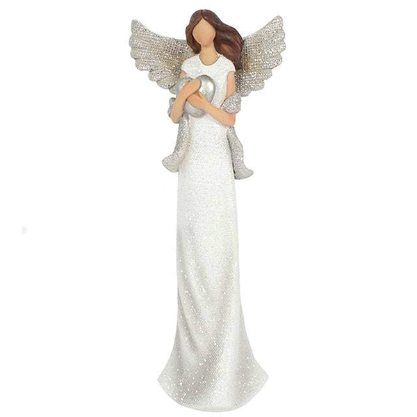 Amara Medium Glitter Angel Ornament