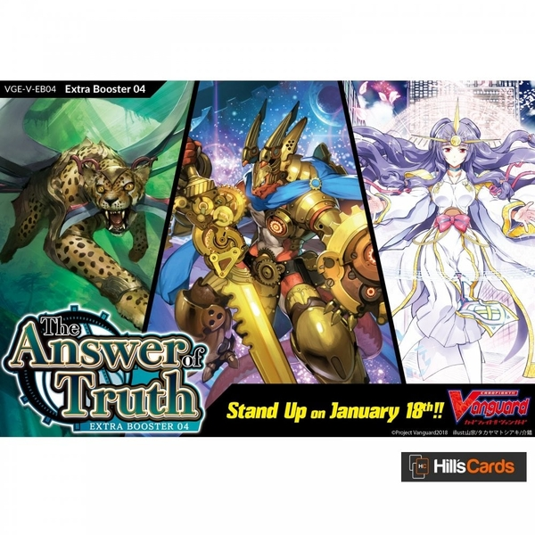 Cardfight Vanguard TCG: VGE-V-EB04 The Answer of Truth Booster Box (12 Packs)
