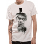 Justice League Movie - Batman Silhouette Men's Large T-Shirt - White