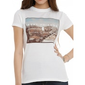 Real Friends - Illinois Bad Boys Womens Fitted Small T-Shirt - White