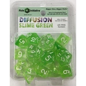 Diffusion Slime Green Poly 15 Set Dice