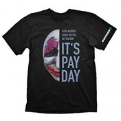 PAYDAY 2 Men's Houston Mask Large T-Shirt, Black