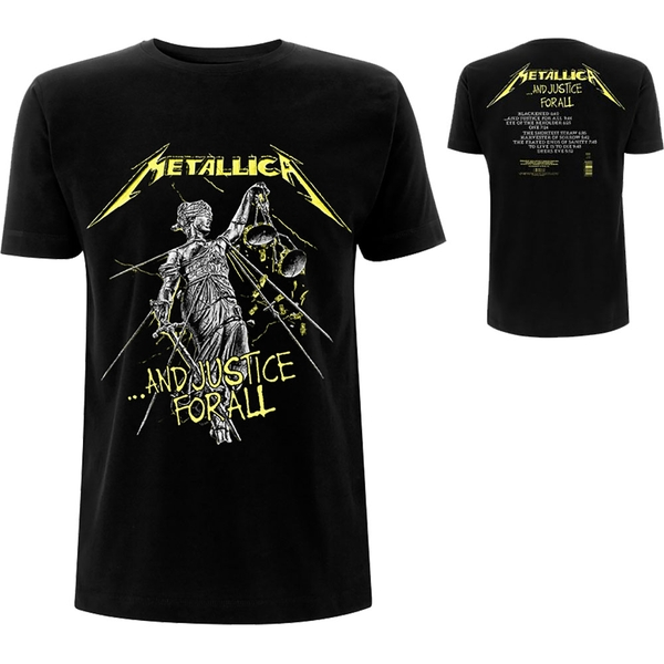 Metallica - And Justice For All Tracks Men's Large T-Shirt - Black