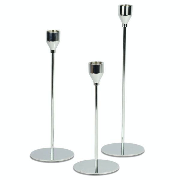 Tulip Candlesticks - Set of 3 | M&W Silver