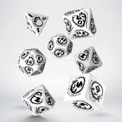 Q-Workshop Dragon Black & White Dice Set