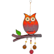 Owl On A Branch Sun Catcher