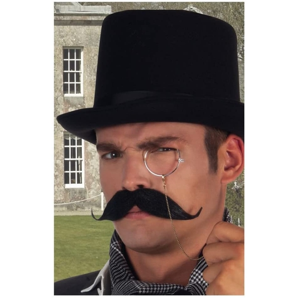 Thick Moustache One Size (Black)