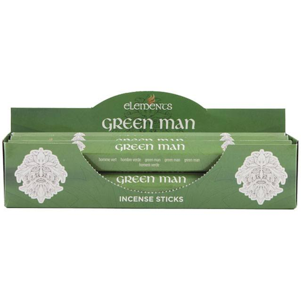 6 Packs of Elements Green Man Incense Sticks