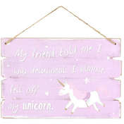 Purple Unicorn Hanging Sign