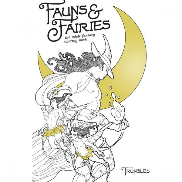 Fauns & Fairies Adult Coloring Book