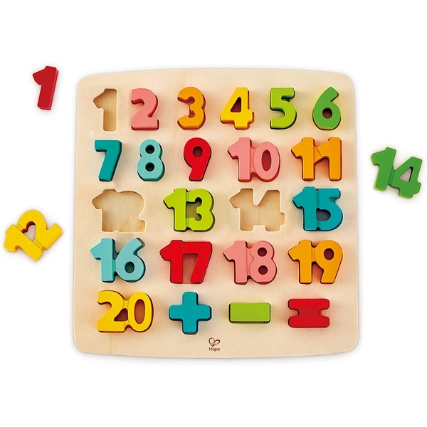 Hape Chunky Number Wooden Puzzle