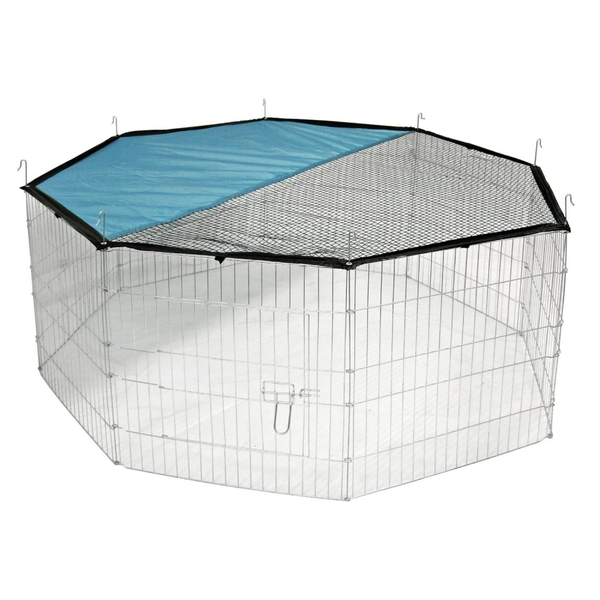 Large Outdoor Pet Playpen & Net | 8 Panel Enclosure | Small/ Medium Pets | M&W - Image 1