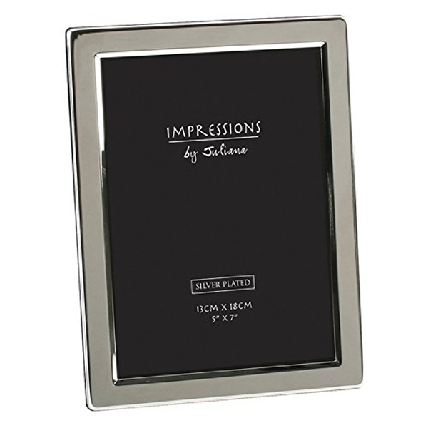 """5"""" x 7"""" - Impressions Silver Plated Photo Frame Flat Edge"""