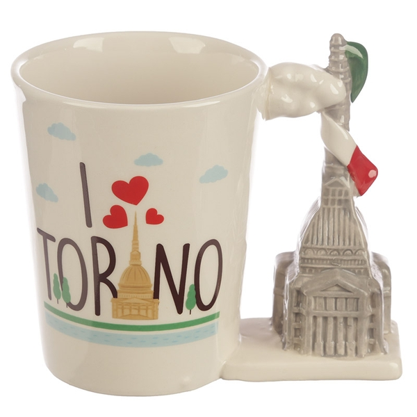Torino Shaped Handle Ceramic Mug