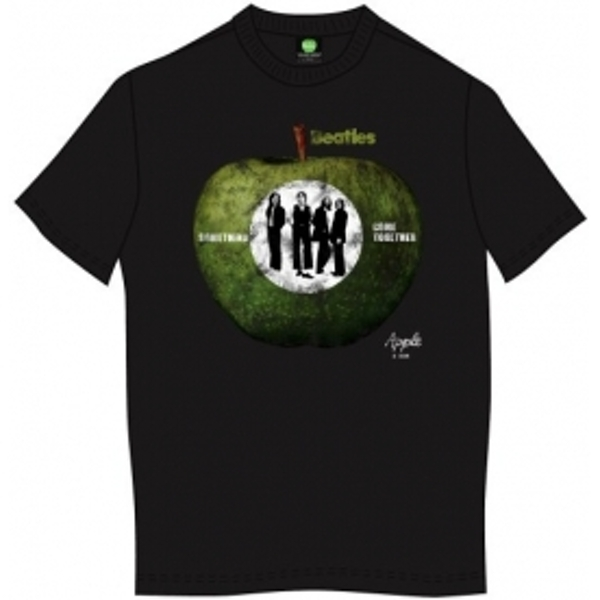 The Beatles Something/Come Together Mens Blk TS: Large