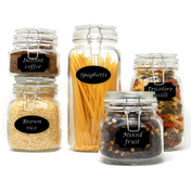 Set of 5 Assorted Clip Top Jars Only £8.99