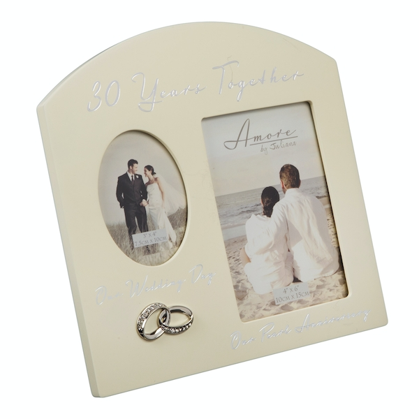 AMORE BY JULIANA Double Anniversary Frame - 30 Years