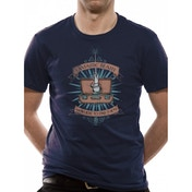 Fantastic Beasts - Magic Wand Men's X-Large T-Shirt - Blue