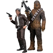 1:10 Han Solo & Chewbacca The Force Awakens ArtFX+ Twin Set