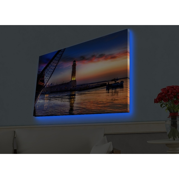 4570HDACT-033 Multicolor Decorative Led Lighted Canvas Painting