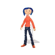 Coraline Articulated Figure in Striped Shirt and Jeans (Coraline Movie) Neca 18cm Figure