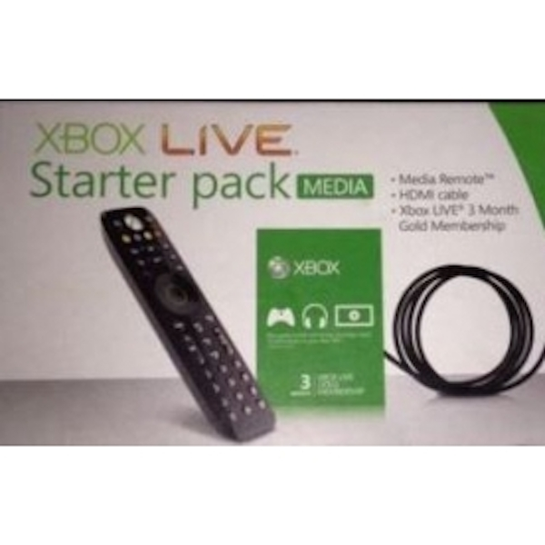 Xbox Live Media Starter Pack (3 Months + Remote + HDMI Cable)